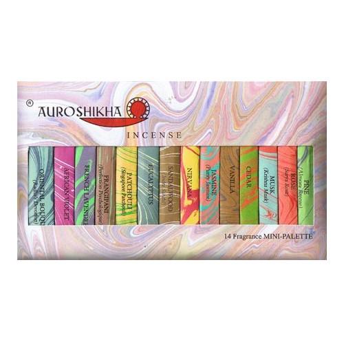 Auroshikha Minipalette 'tien-minuten-stokjes' (14 geuren)