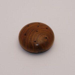 Kleine ronde teak, 4cm
