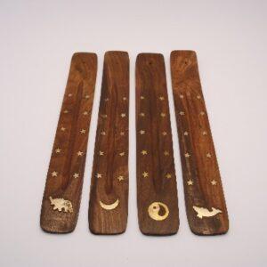 Ski-model, ceder koper ingelegd diverse symbolen 27cm