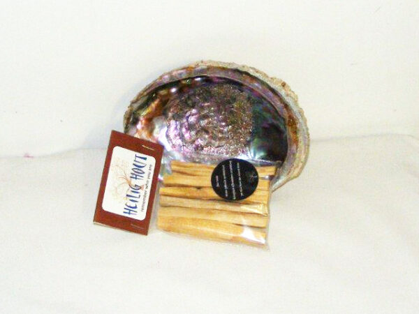 Abalone Schelp met Heilig Hout Fair Trade