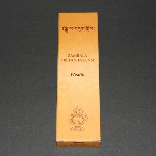 Tibetaanse wierook Zambala, Wealth, 14cm, 20gr